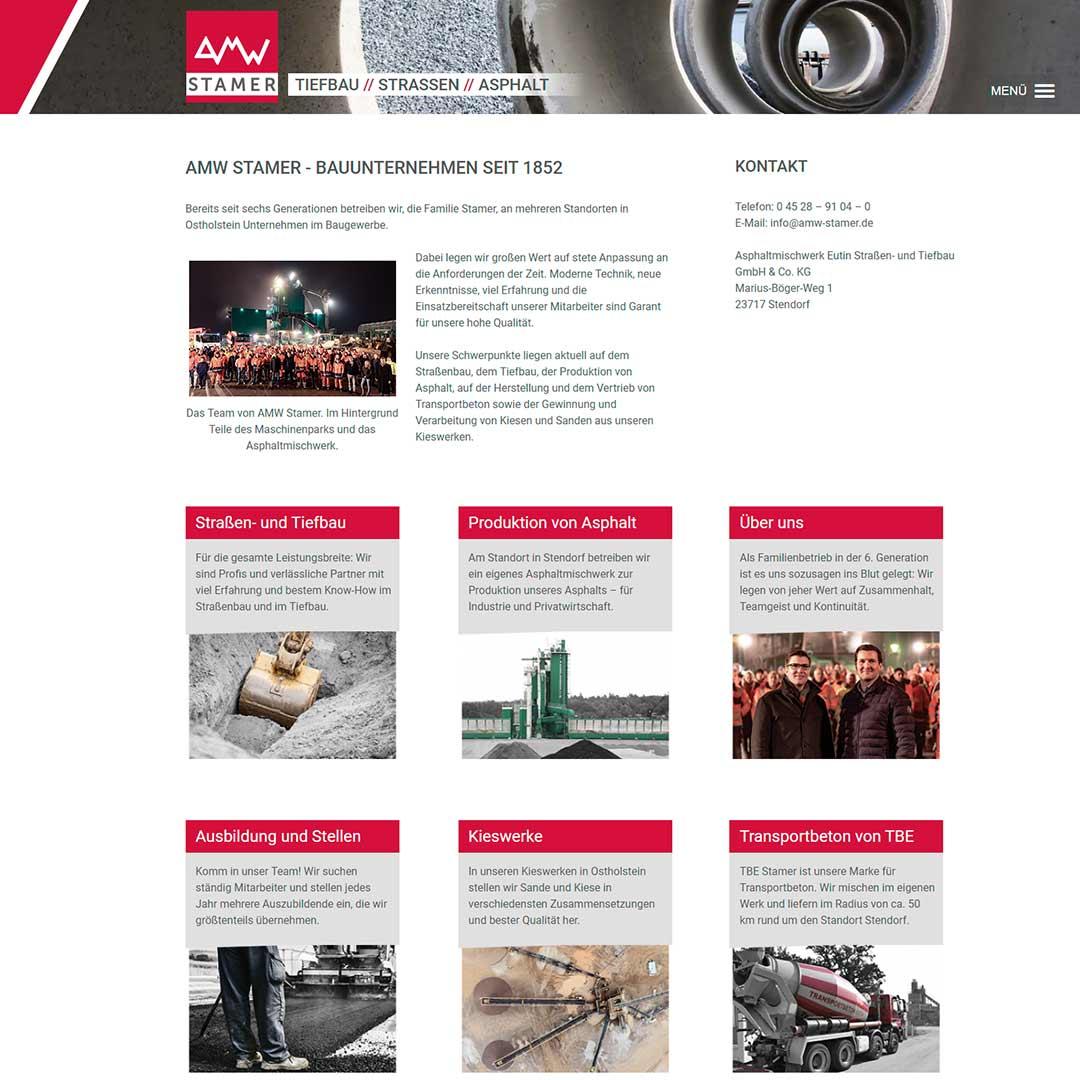 Neue Webseite für AMW Stamer