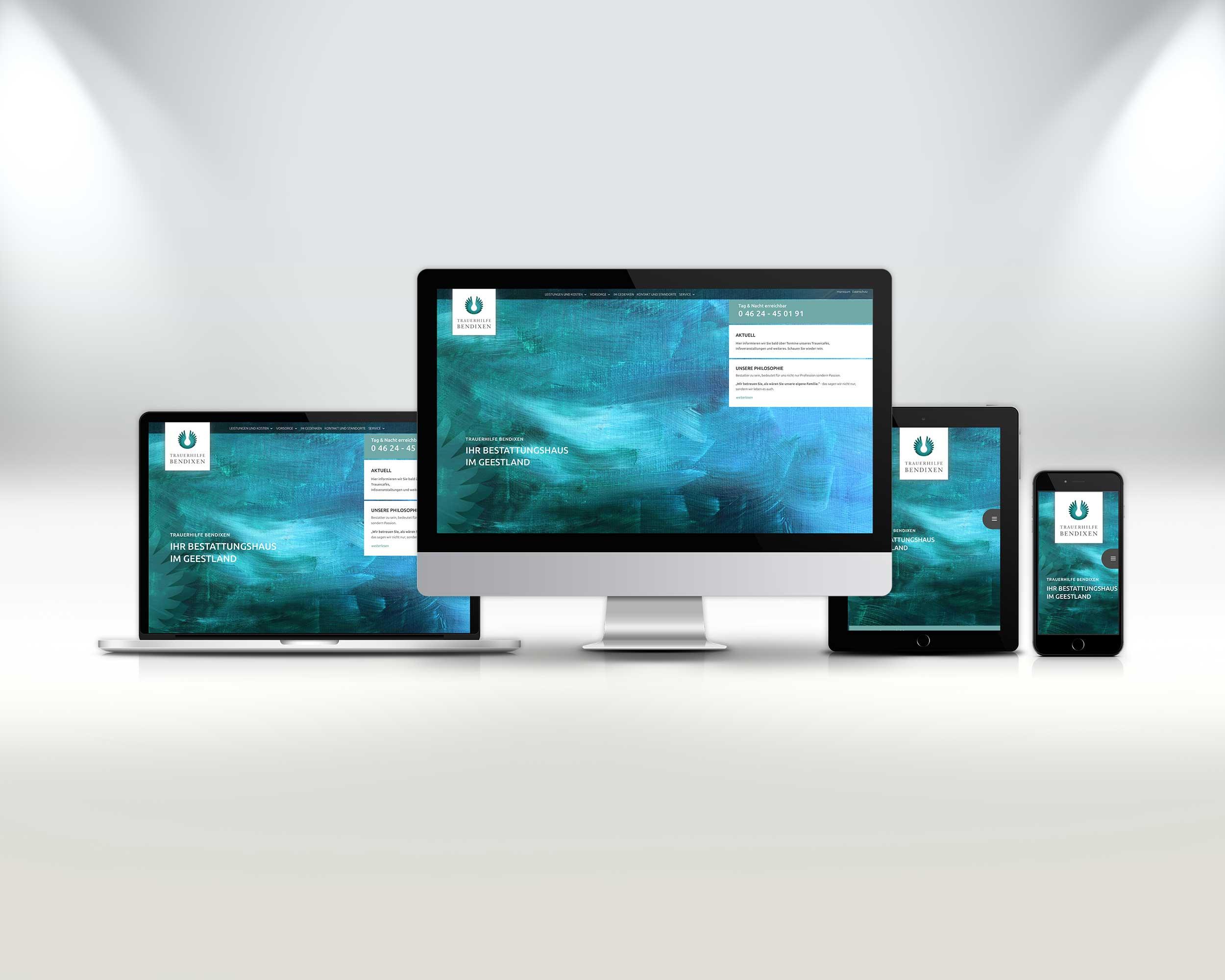 Neue Webseite für Trauerhilfe Bendixen