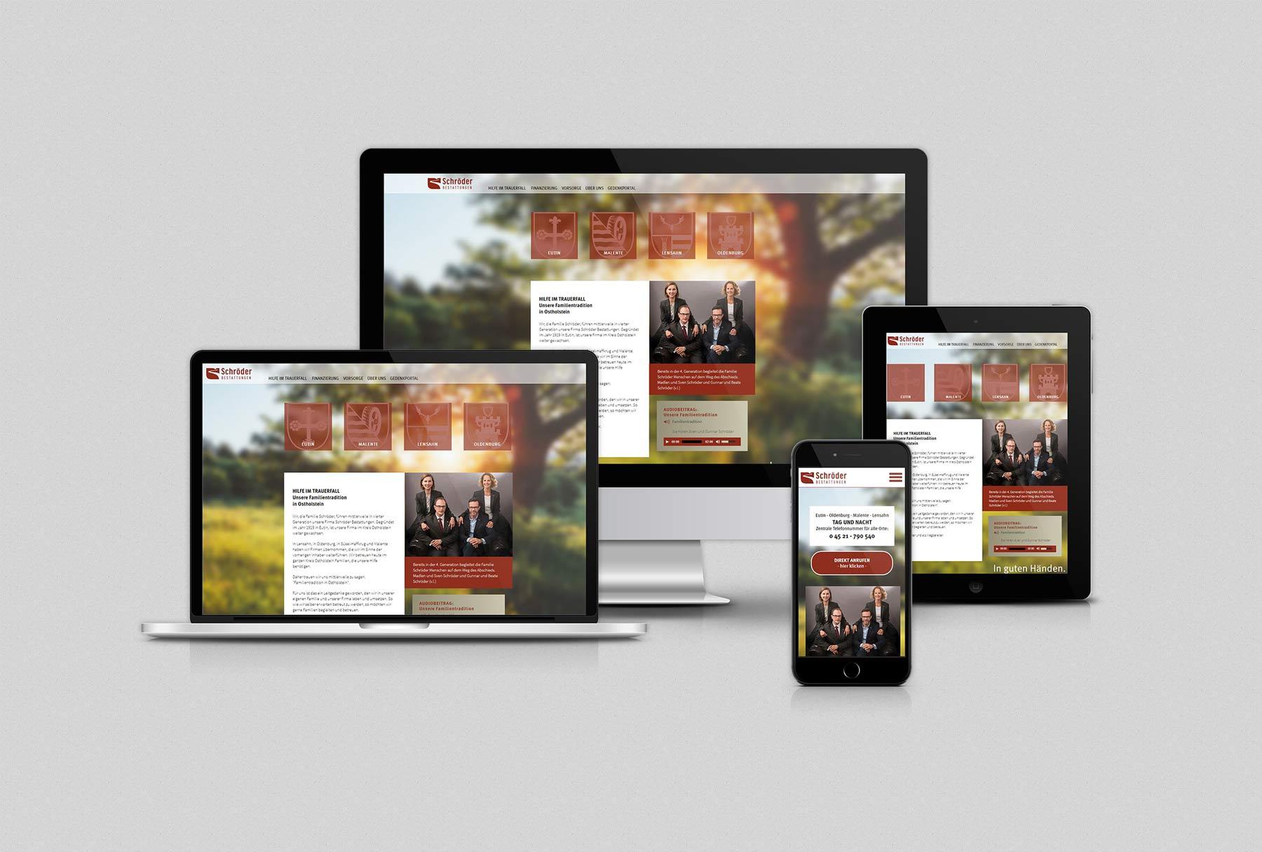 Schröder Bestattungen Webseite
