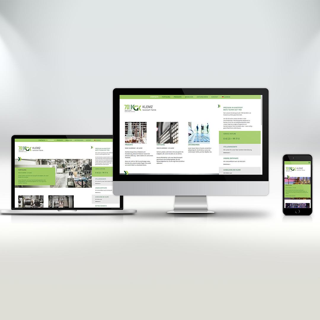 Klemz Kunststoff-Technik Webseite
